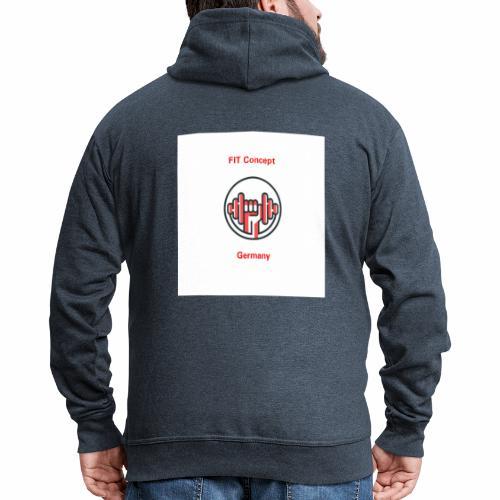 FIT Concept Germany Logo+Beschriftung - Männer Premium Kapuzenjacke