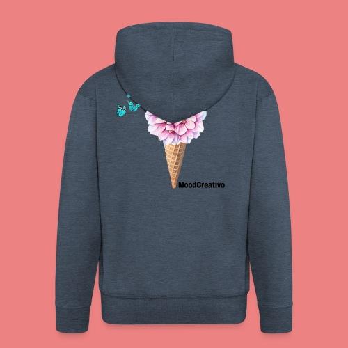 MoodCreativo - Felpa con zip Premium da uomo