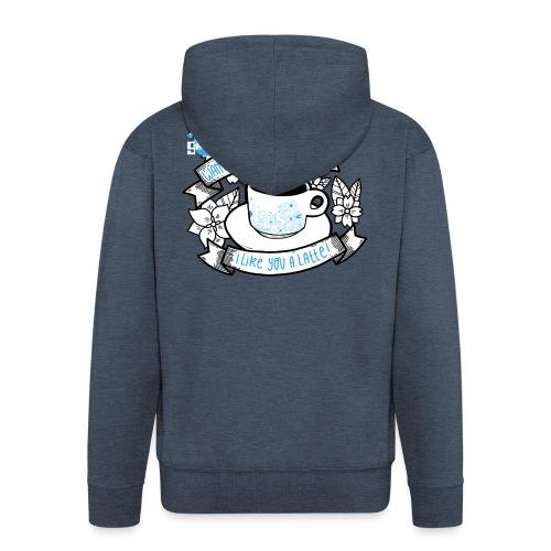 I Like You To Latte White - Mannenjack Premium met capuchon