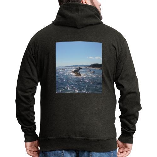 Mer avec roches - Veste à capuche Premium Homme