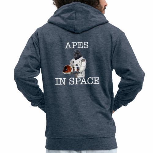 Apes in Space - Men's Premium Hooded Jacket