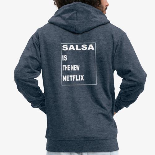 Salsa is the new Netflix - Männer Premium Kapuzenjacke