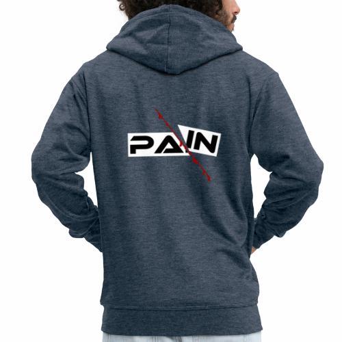 PAIN Design, blutiger Schnitt, Depression, Schmerz - Männer Premium Kapuzenjacke