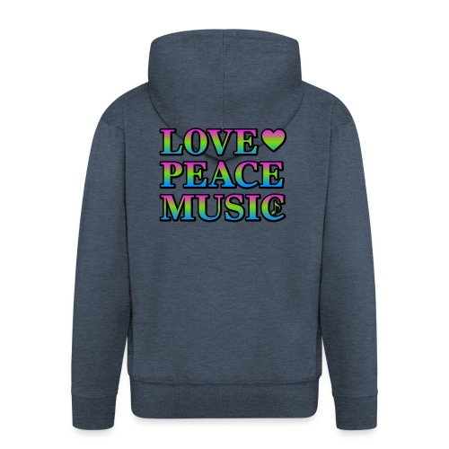 Love Peace Music - Men's Premium Hooded Jacket