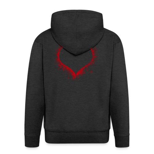 Herz/Heart - Männer Premium Kapuzenjacke