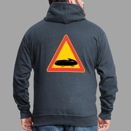 Traffic sign velomobile - Miesten premium vetoketjullinen huppari