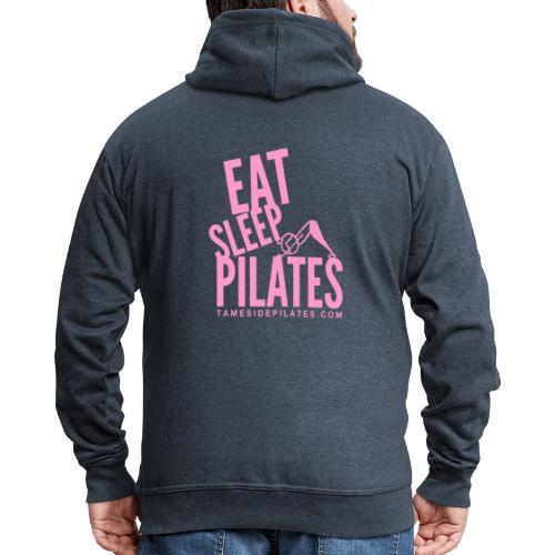 eat sleep pilates 2019 pink - Men's Premium Hooded Jacket