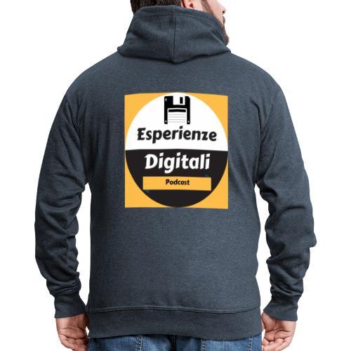 Logo Esperienze Digitali - Felpa con zip Premium da uomo