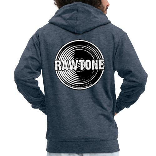 Rawtone Records logo - Men's Premium Hooded Jacket