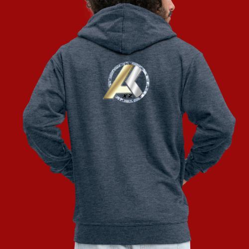 AK Logo GOLD SILVER DIAMANT - Männer Premium Kapuzenjacke