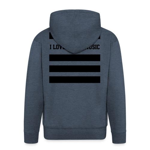 I LOVE HOUSE MUSIC STRIPES - Männer Premium Kapuzenjacke