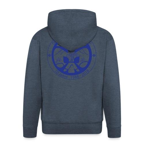 Logo Jubi Rund Blau - Männer Premium Kapuzenjacke