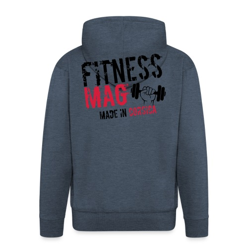 Fitness Mag made in corsica 100% Polyester - Veste à capuche Premium Homme
