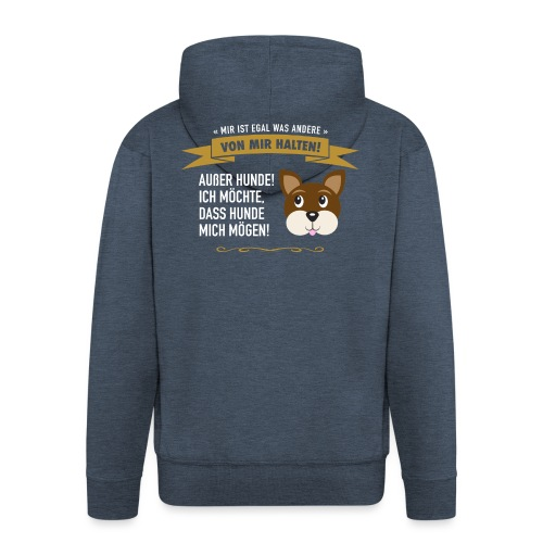 Hauptsache Hundeliebe! - Männer Premium Kapuzenjacke