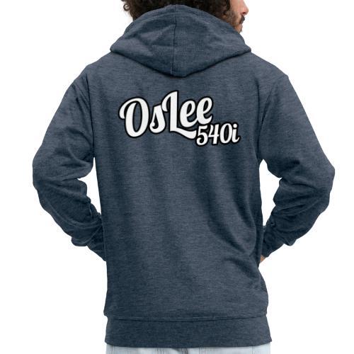 OsLeeLogoschattenGross - Männer Premium Kapuzenjacke