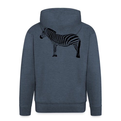 Basic T-Shirt Woman | I am a freaking ZEBRA - Men's Premium Hooded Jacket