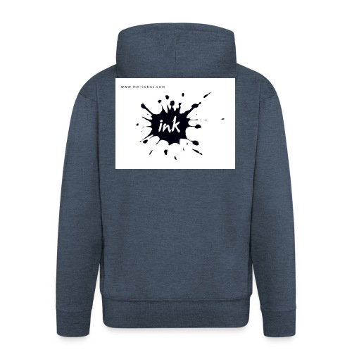 Ink Logo and website - Men's Premium Hooded Jacket