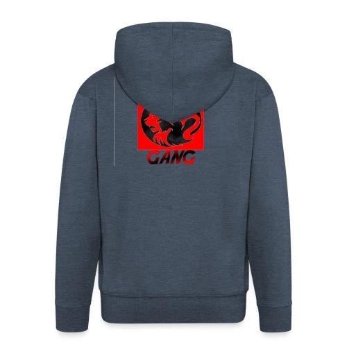 G.L.T Gang Logo on hat - Men's Premium Hooded Jacket