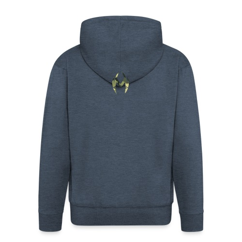 Camo Logo - Men's Premium Hooded Jacket