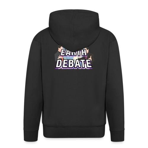 Flat Earth Debate Solid - Men's Premium Hooded Jacket