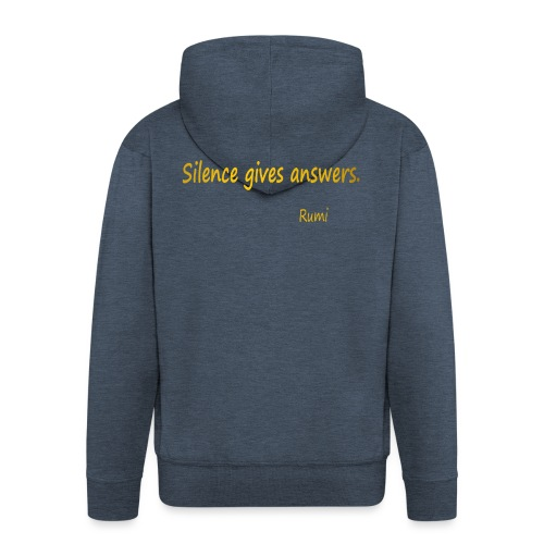 Silence - Men's Premium Hooded Jacket