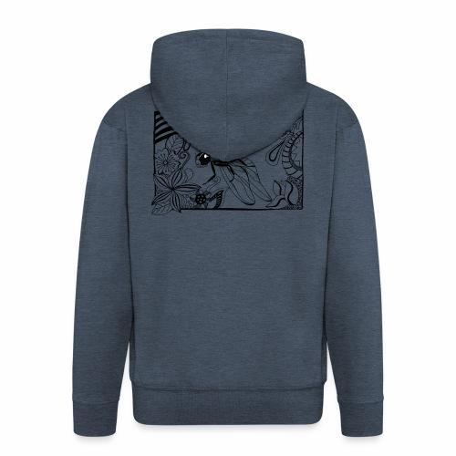 Dragonfly - Rozpinana bluza męska z kapturem Premium