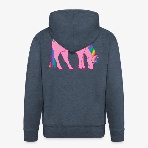 Regenbogen Pferd - Männer Premium Kapuzenjacke