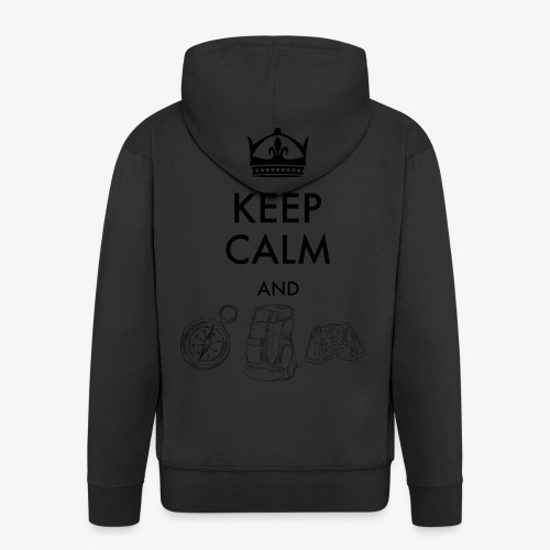 keepcalmandexplore - Men's Premium Hooded Jacket