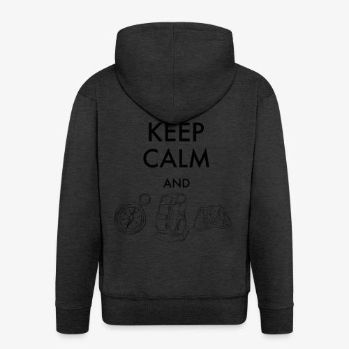 keepcalmandexplore - Men's Premium Hooded Jacket