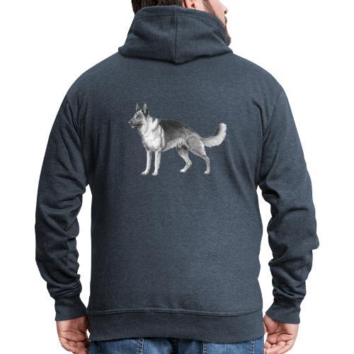 German shepherd schæfer ink - Herre premium hættejakke