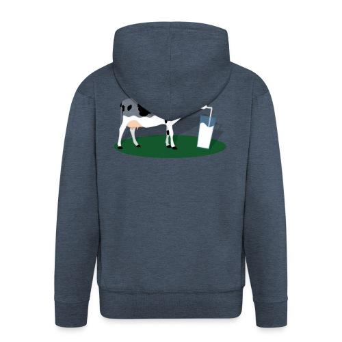 RECHARGING COW - Felpa con zip Premium da uomo