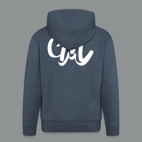 Sweater Unisex (voorkant) - Mannenjack Premium met capuchon