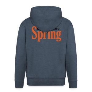 Gymtas met logo van Theatergroep Spring - Mannenjack Premium met capuchon