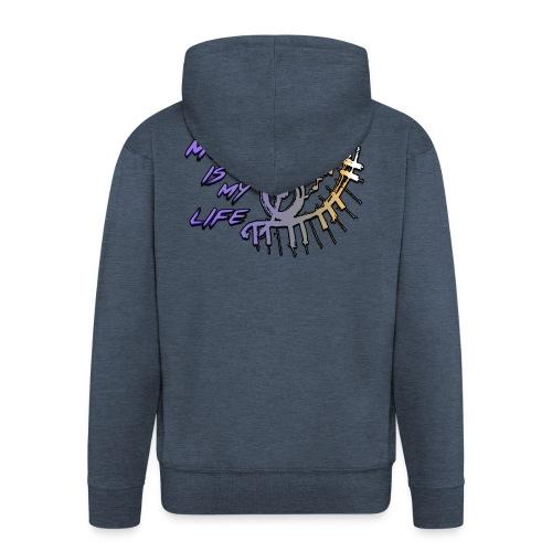 Music is my life - Dames Shirt - Mannenjack Premium met capuchon