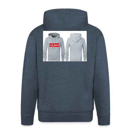 elgiro gray hoodie - Men's Premium Hooded Jacket