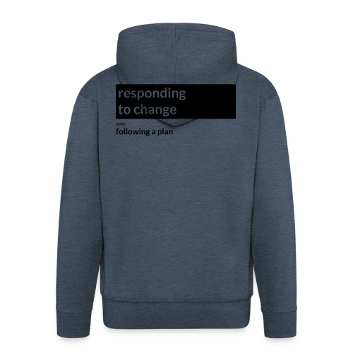 Agile Manifesto: Responding to change - Men's Premium Hooded Jacket