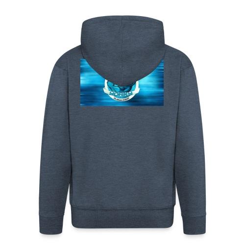 Shark_logo - Felpa con zip Premium da uomo