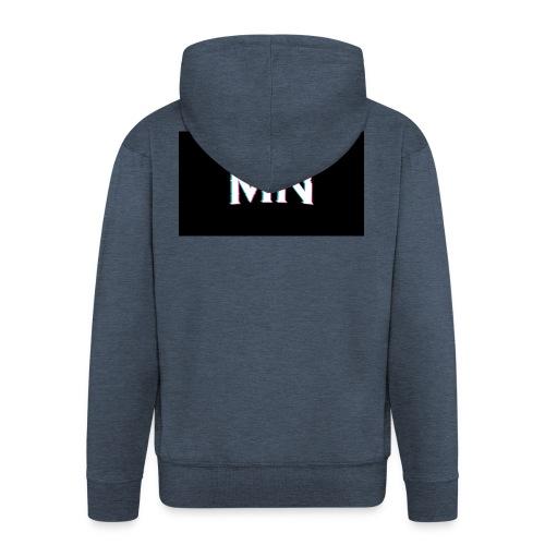 MN-Glitch Logo - Männer Premium Kapuzenjacke