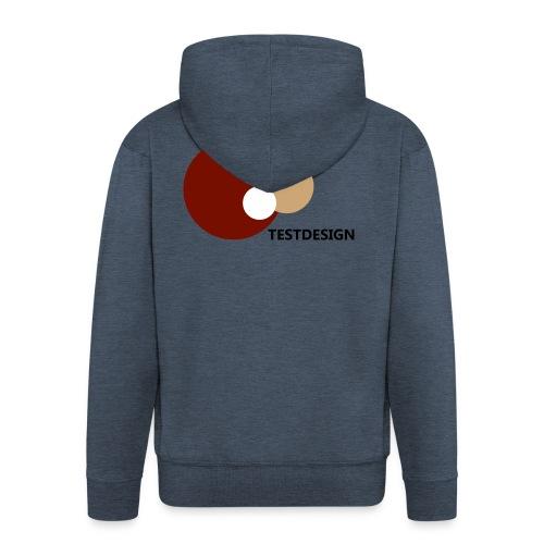 testdesign_font_black_transparent_background - Men's Premium Hooded Jacket