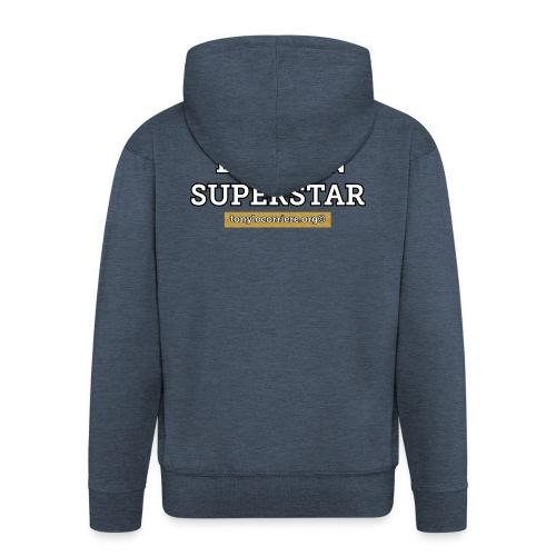 bitcoin superstar - Felpa con zip Premium da uomo