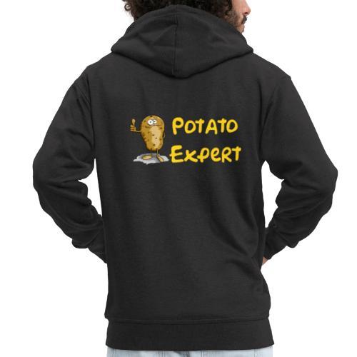 SMT potato expert - Felpa con zip Premium da uomo