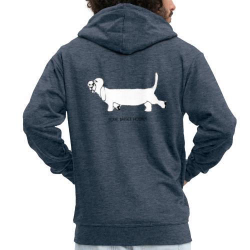 Love basset hounds - Herre premium hættejakke