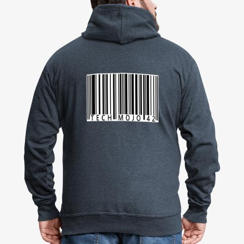 TM graphic Barcode Answer to the universe - Men's Premium Hooded Jacket