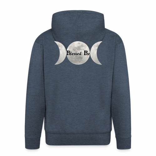 Triple Moon Blessings - Men's Premium Hooded Jacket