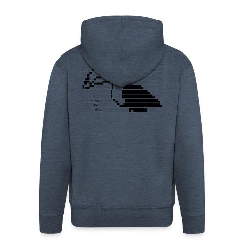 le toucan has arrived - Felpa con zip Premium da uomo