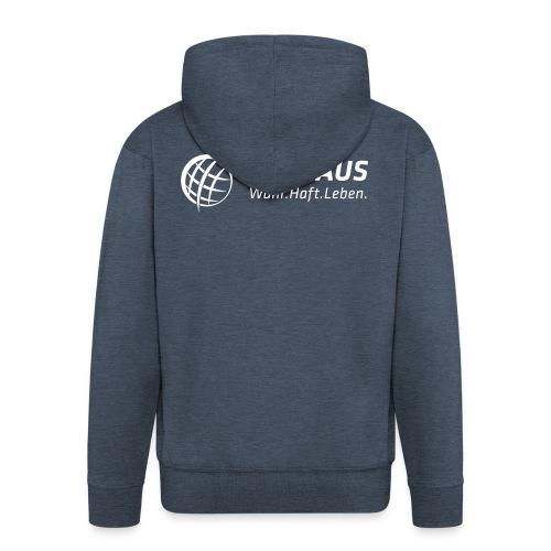 Seehaus Logo weiß - Männer Premium Kapuzenjacke