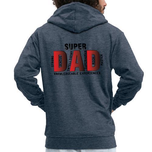 FATHER'S DAY - SUPER DAD DESIGN - Men's Premium Hooded Jacket