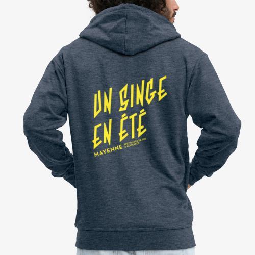 LOGO baseline jaune - Veste à capuche Premium Homme