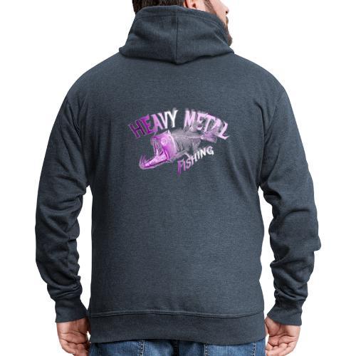 heavy metal pinklogo - Männer Premium Kapuzenjacke