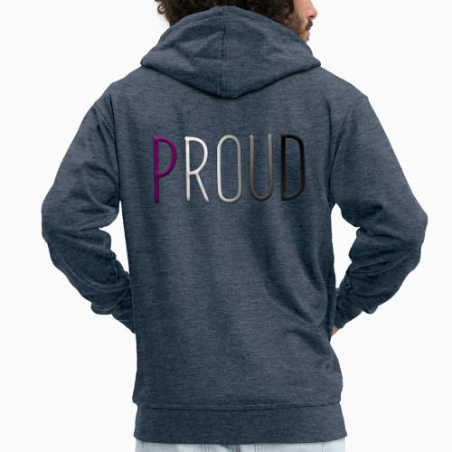 Proud Asexual - Men's Premium Hooded Jacket